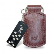 Флеш память USB 2.0 PQI 4 Гб I-Stick i820 Leather KeyChain Coffee (6820-004GR1005/6820-004GR1016)