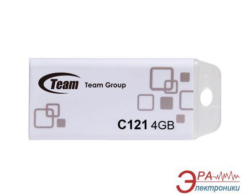 Флеш память USB 2.0 Team 4 Гб C121 Grey White (TC12154GW01)