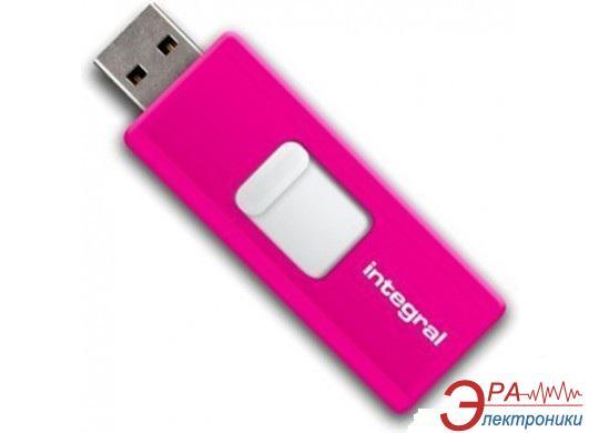 Флеш память USB 2.0 INTEGRAL 16 Гб Drive Slide Pink (INFD16GBSLDPK)