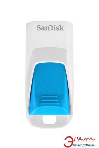 Флеш память USB 2.0 SanDisk 16 Гб Cruzer Edge White-Blue (SDCZ51W-016G-B35B)