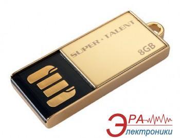 Флеш память USB 2.0 Super Talent 8 Гб PICO-C Gold (STU8GPCG)