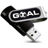 Флеш память USB 2.0 Goodram 8 Гб Twister Goal Black (PD8GH2GRTSKR9+GOAL)