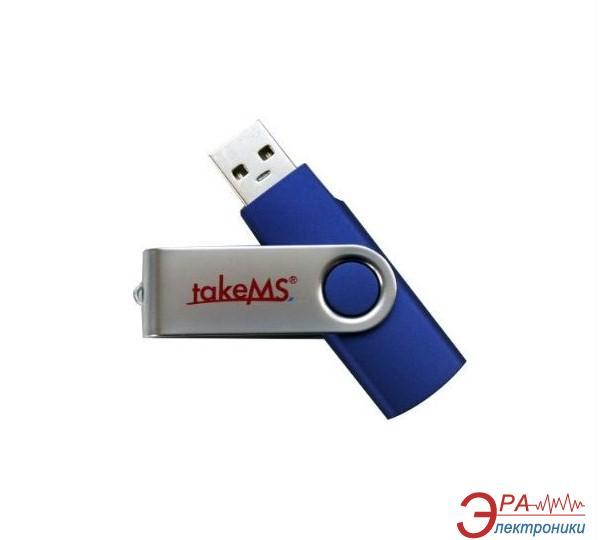 Флеш память USB 2.0 TakeMS 16 Гб Mini Rubber Blue (88385)