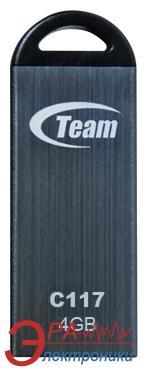 Флеш память USB 2.0 Team 4 Гб C117 Grey (TC1174GC01)