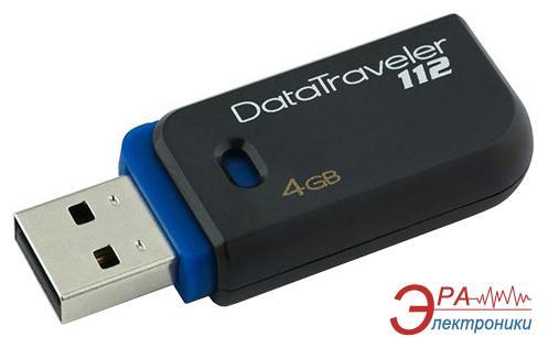 Флеш память USB 2.0 Kingston 4 Гб DataTraveler 112 black&blue (DT112/4GB)