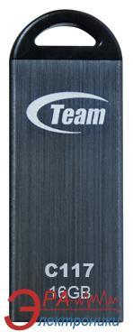 Флеш память USB 2.0 Team 16 Гб C117 Grey (TC11716GC01)