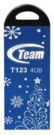 Флеш память USB 2.0 Team 4 Гб T123 Blue Xmas (TT1234GL10)