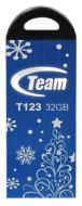 Флеш память USB 2.0 Team 32 Гб T123 Blue Xmas (TT12332GL10)