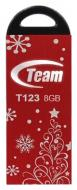 Флеш память USB 2.0 Team 8 Гб T123 Red Xmas (TT1238GR10)