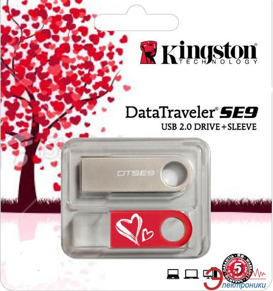 Флеш память USB 2.0 Kingston 16 Гб DataTraveler SE9 Valentine's Day (KC-U4616-2U2)