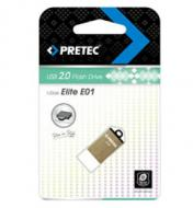 Флеш память USB 2.0 Pretec 8 Гб Elite Gold (E2T08G-1G)