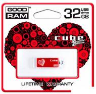 Флеш память USB 2.0 Goodram 32 Гб Cube Valentin Red (PD32GH2GRCURR9+V)