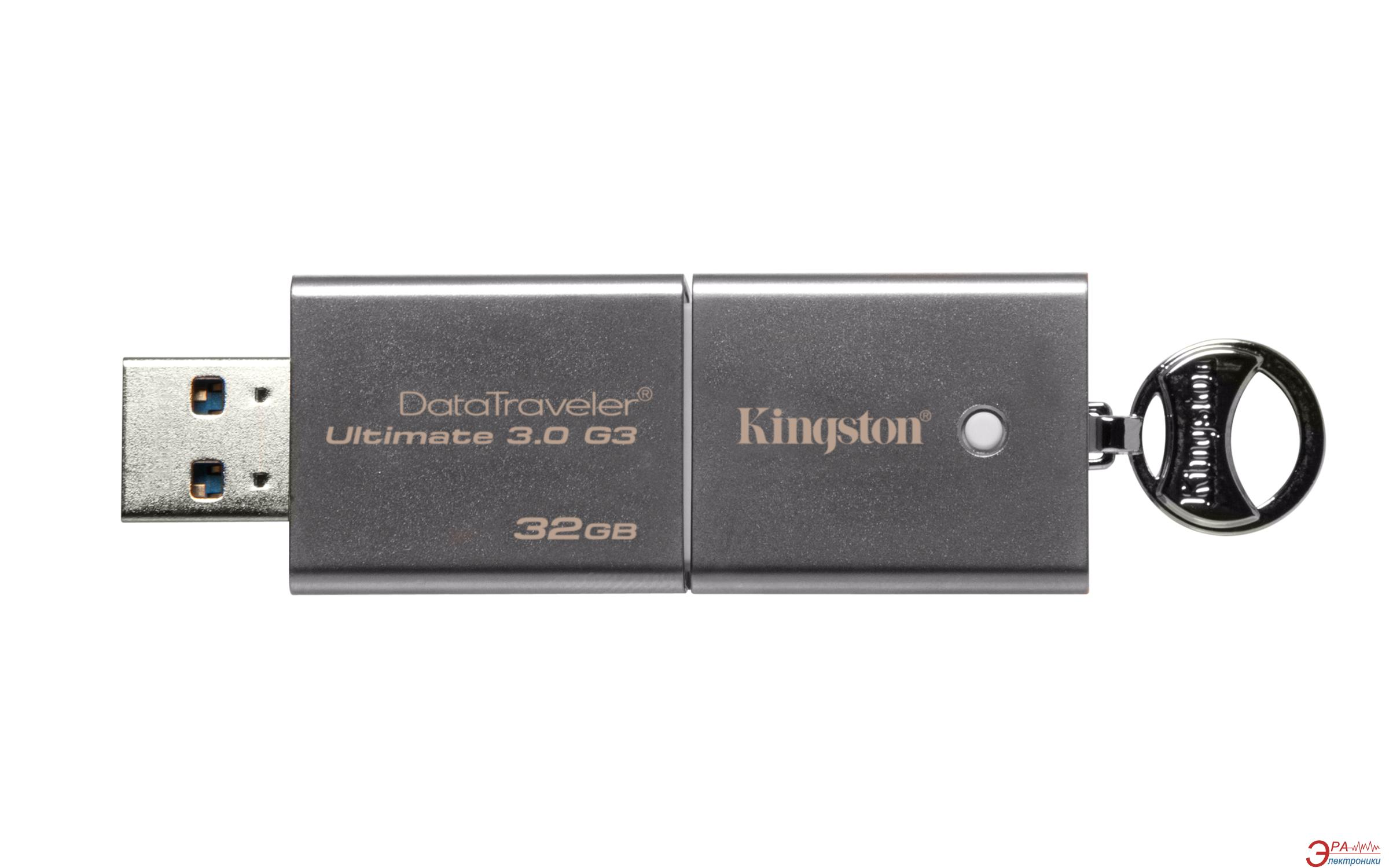 Флеш память USB 3.0 Kingston 32 Гб DataTraveler Ultimate G3 (DTU30G3/32GB)