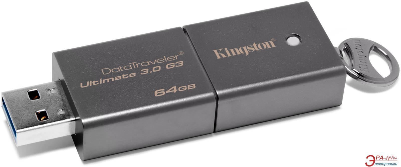Флеш память USB 3.0 Kingston 64 Гб DataTraveler Ultimate G3 (DTU30G3/64GB)