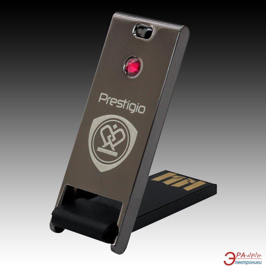 Флеш память USB 2.0 PRESTIGIO 32 Гб Crystal Gun Metal with Red crystal (PPFD1RD32)