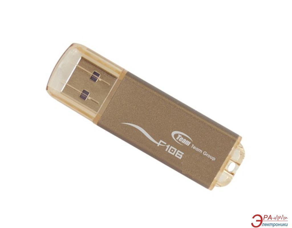 Флеш память USB 2.0 Team 8 Гб F108 Brown bulk (EF1088GNBK)