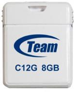 Флеш память USB 2.0 Team 8 Гб C12G White (TC12G8GW01)