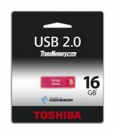 Флеш память USB 2.0 Toshiba 16 Гб TransMemory Mini Rosered (THNU16ENSRED(BL5)