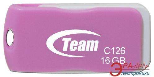Флеш память USB 2.0 Team 16 Гб C126 Pink (TC12616GK01)