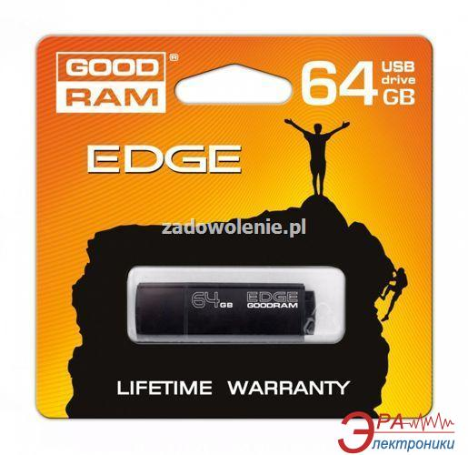 Флеш память USB 3.0 Goodram 64 Гб EDGE black (PD64GH3GREGKR9)