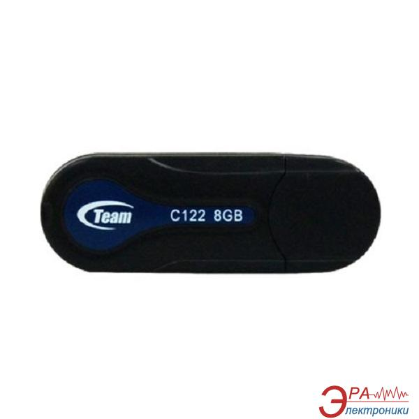Флеш память USB 2.0 Team 8 Гб C122 Black (TC1228GB01)