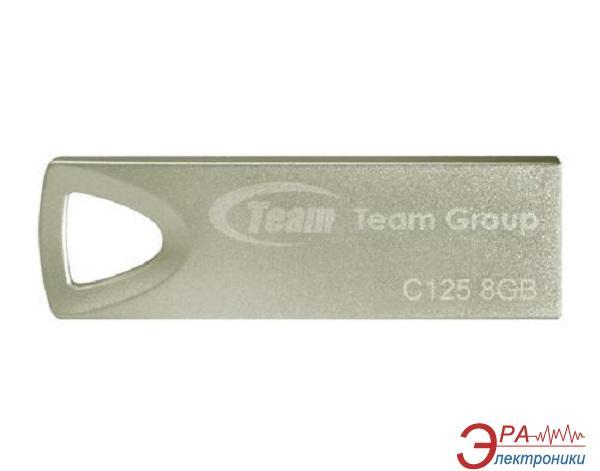 Флеш память USB 2.0 Team 8 Гб C125 Silver (TC1258GS01)