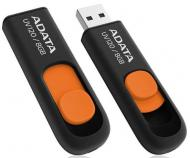 Флеш память USB 2.0 A-Data 8 Гб UV120 lack/Orange (AUV120-8G-RBO)