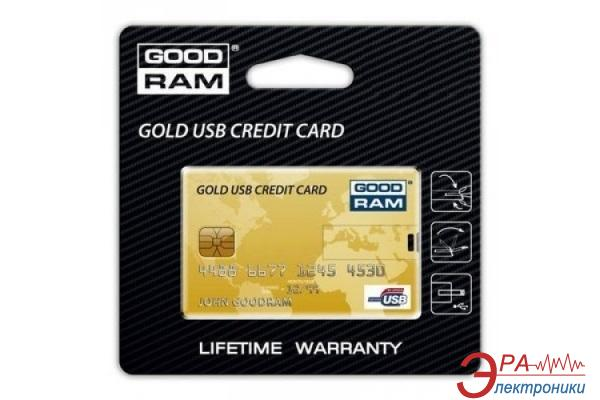 Флеш память USB 2.0 Goodram 32 Гб Gold Credit Card (PD32GH2GRCCPR9)