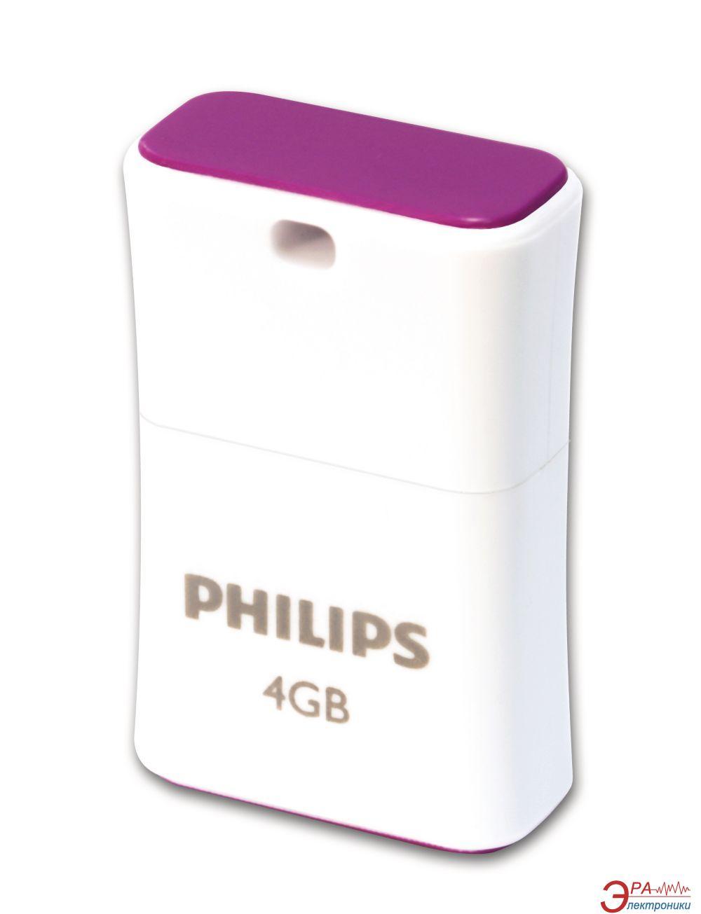 Флеш память USB 2.0 Philips 4 Гб Pico (Purple) (FM04FD85B/97)