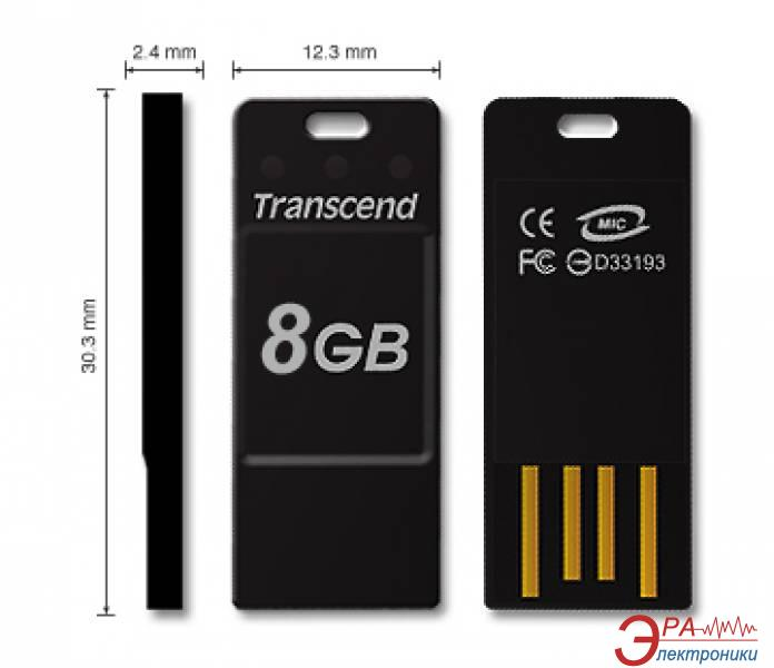 Флеш память USB 2.0 Transcend 8 Гб JetFlash T3K (TS8GJFT3K)