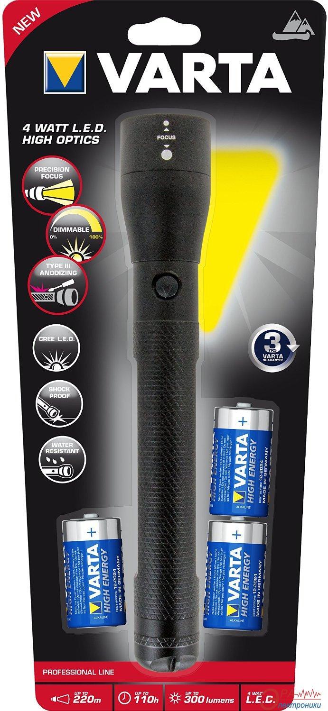 Фонарик Varta 4W LED High Optics Light 3C (18812101421)