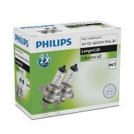 Лампа галогенная Philips H4 LongLife, 2шт/картон (12342ELC2)