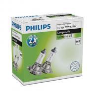 Лампа галогенная Philips H7 LongLife, 2шт/картон (12972ELC2)