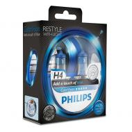 Лампа галогенная Philips H4 ColorVision Blue 3350K 2шт (12342CVPBS2)