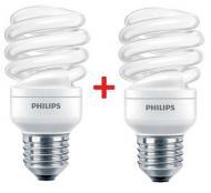 Энергосберегающая лампа Philips E27 20W  6500K Econ Twister (1+1) (8727900844580)
