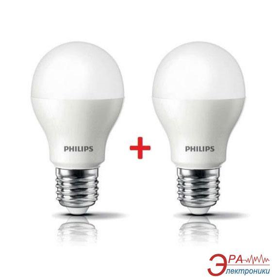 Светодиодная лампа Philips LEDBulb E27 7.5-60W 3000K 230V A55 (1+1) (8711500817648)