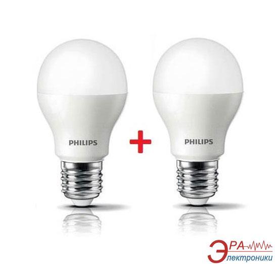 Светодиодная лампа Philips LEDBulb E27 9-70W 6500K 230V A55 (1+1) (8717943885022)
