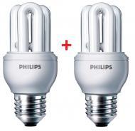Энергосберегающая лампа Philips E27 8W 220-240V 2700K Genie (1+1) (8717943898664)