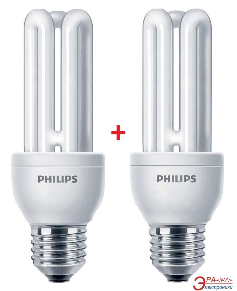 Энергосберегающая лампа Philips E27 14W 220-240V 2700K Genie (1+1) (8717943898602)