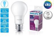 Светодиодная лампа Philips LEDBulb E27 6-50W 230V 6500K A60/PF (929001163507)