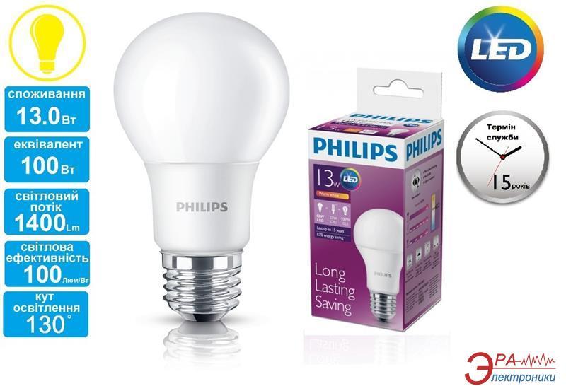 Светодиодная лампа Philips LEDBulb E27 13-100W 230V 3000K A60/PF (929001162407)
