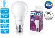 Светодиодная лампа Philips LEDBulb E27 7-60W 230V 6500K A60/PF (929001163607)