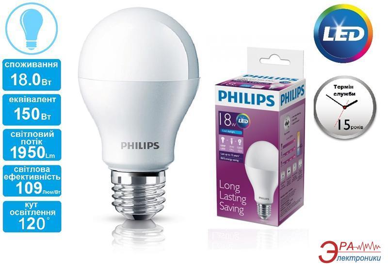 Светодиодная лампа Philips LEDBulb E27 18-150W 230V 6500K A67/PF (929001165037)