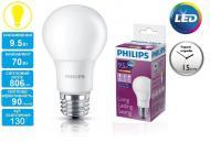 Светодиодная лампа Philips LEDBulb E27 9.5-70W 230V 3000K A60/PF (929001162207)