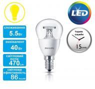 Светодиодная лампа Philips LEDcandle ND E14 5.5-40W 230V 2700K P45 CL (929001142607)