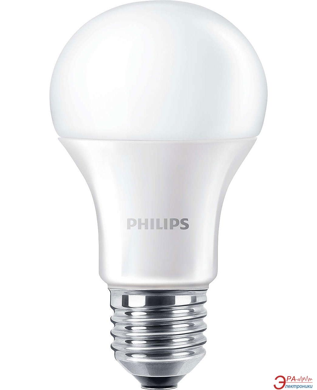 Светодиодная лампа Philips LEDBulb E27 9.5-60W 230V 4000K A60/PF CorePro (929001179602)
