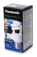 Энергосберегающая лампа Panasonic 8W (40W) 6500K E27 (EFD8E65HD3MR)
