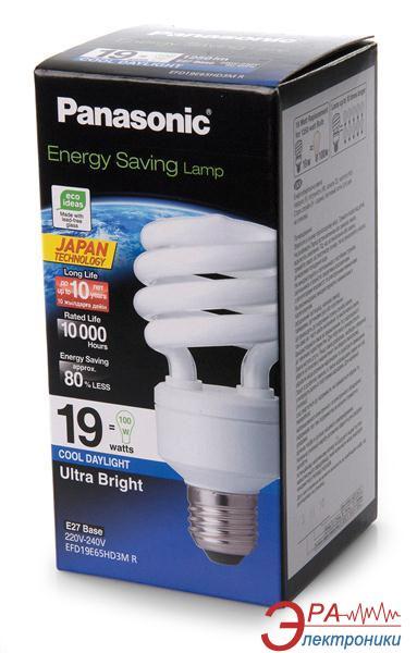 Энергосберегающая лампа Panasonic 19W (100W) 6500K E27 (EFD19E65HD3MR)
