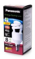 Энергосберегающая лампа Panasonic 8W (40W) 2700K E14 (EFD8E27HD3E14MR)