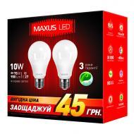 Светодиодная лампа Maxus A60 10W 4100K 200V E27 AP (2 шт.) (2-LED-146-01)
